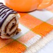 Chocolate roll - Stock Photo