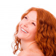 Toothy smiling redheaded girl — Stock Photo #1746609
