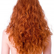 Gorgeous curly red hair - Stock Photo