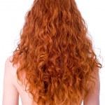nádherné kudrnaté zrzavé vlasy — Stock fotografie