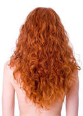 Gorgeous curly red hair — Stock Photo