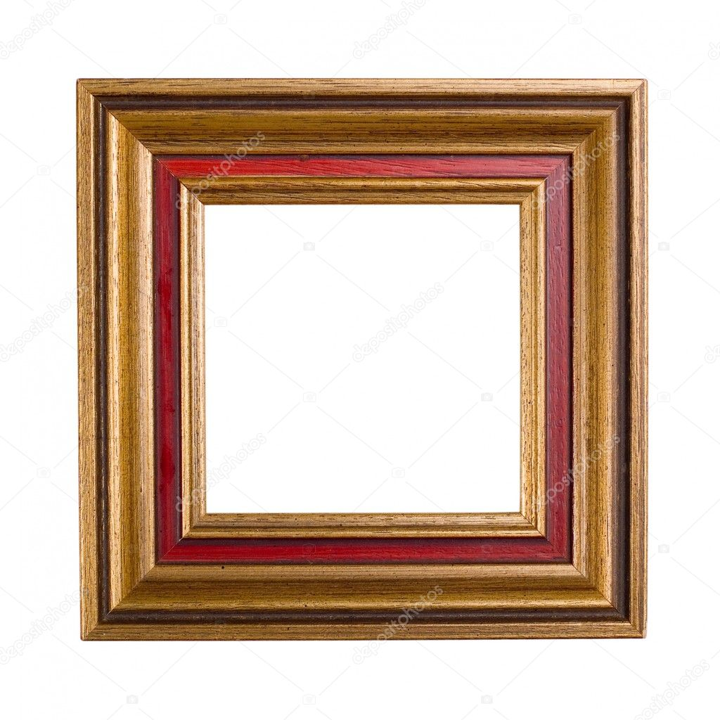 Empty square picture frame at white background — Stock Photo #1741456