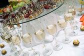 Sfondo di tavolo di nozze — Foto Stock