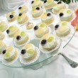 Jelly cakes on plate — Stockfoto