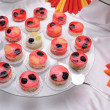 Jelly cakes on plate — 图库照片 #2100093