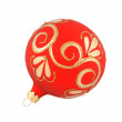 Red christmas ball isolated - Stock Photo