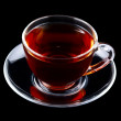 Glass cup of tea isolated — Stock Photo