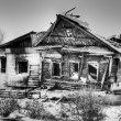 Village old house after fire — Stock Photo