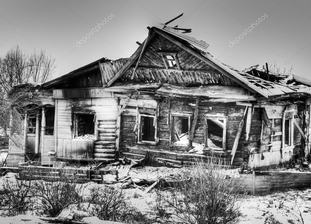 Village old house after fire  Stock Photo #1453056