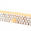 Cigarettes isolated on white — Stock Photo