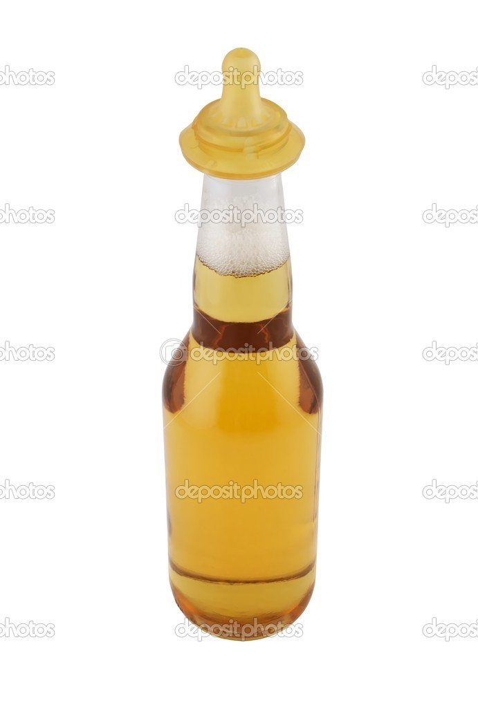 Baby beer, beer bottle with teat — Stock Photo #1481706