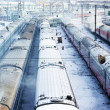 Winter wagons with smoke — Stock Photo #1623605