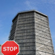 Stop power plant emission — Stock Photo