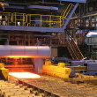 Production of the steel sheet - Stock Photo