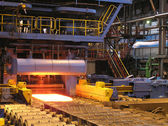 Production of the steel sheet — Stock Photo