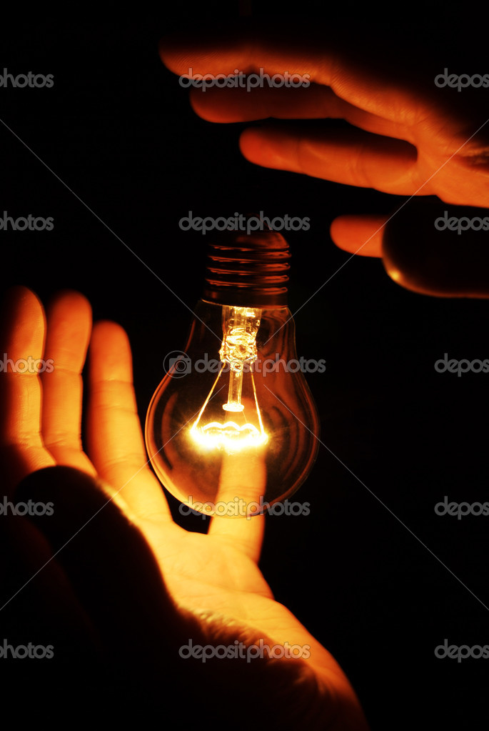 Picture of soaring light bulb — Foto Stock #1408568