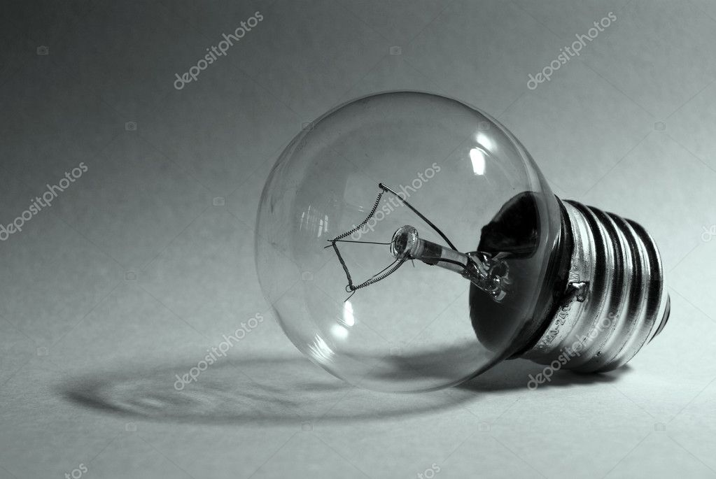 Picture of lying electric light bulb  Stock Photo #1428547