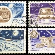 The Soviet Stamps About Moon Exploration — Stock Photo