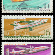 Old Soviet stamps (1965). - Stock Photo