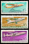 Old Soviet stamps (1965). — Stock Photo