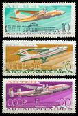 Oude Sovjet-Unie postzegels (1965). — Stockfoto