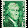 Vintage USA postage stamp - Stock Photo