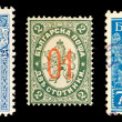 Old Bulgarian stamps - Stock Photo