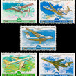The Soviet stamps on an aircraft theme - Stock Photo
