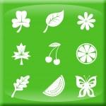 blommig ikoner — Stockfoto