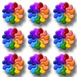 Stock Photo: Illustration of rainbow flowers
