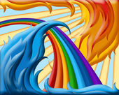 Illustration of rainbow — Stock Photo