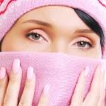 nezdravý pohled na ženu s chladným — Stock fotografie