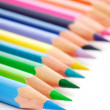 Stock Photo: Palette of the variegated pencils