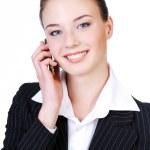 Cute telephone operator — Stock Photo