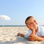 Enjoying on beach — Stock Photo