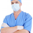 Mature male surgeon with mask — Stock Photo #1462529