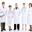 Doctors standing together in row - Stockfoto