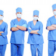 Team of surgeons in uniform — Stock Photo
