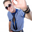 Guy showing okay sign — Stock Photo