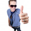 Guy showing thumbs-up sign — Stock Photo #1463196