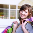 Stock Photo: Young woman shopper