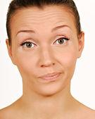 Misstro. att göra ett ansikte. — Stockfoto