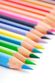 Palette of the variegated pencils — Stock Photo