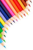 Composition of multicolored pencils — Stock Photo