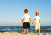 Children on beach — Stock Photo