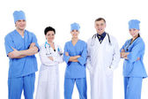 Group laughing successful doctors — Stock Photo