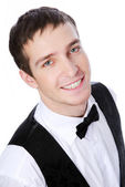 Portrait young waiter — Stock Photo