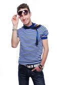 Beautiful stylish young guy — Stock Photo