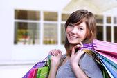 Young woman shopper — Stock Photo