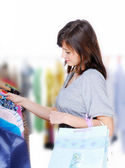 Choosing the dress — Stock Photo